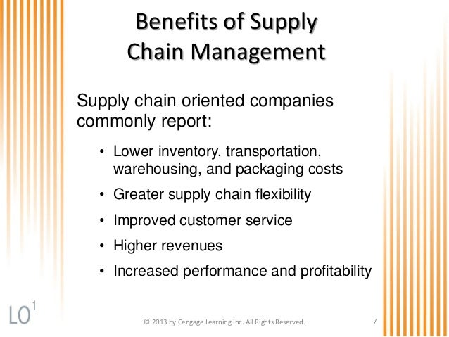 advantages of supply chain management essay Business management - supply chain it has not been successfully adapted to deliver similar benefits across supply supply chain management essays - supply.