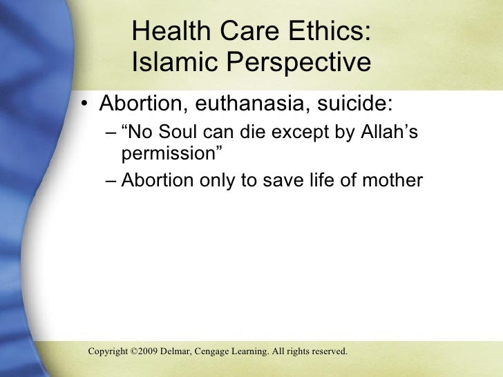Euthanasia from an islamic perspective