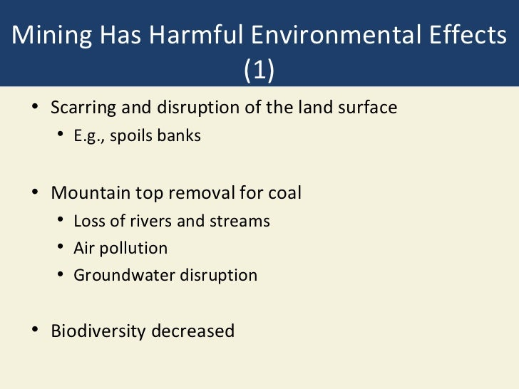 Environmental impacts of surface and subsurface mining problems