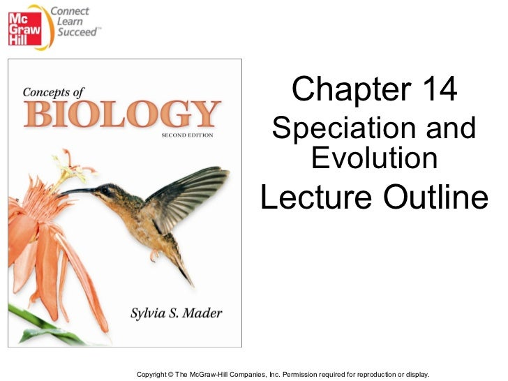 Chapter 14                                          Speciation and                                            Evolution   ...