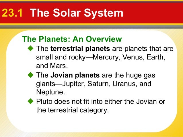 list the differences between terrestrial and jovian planets - photo #13