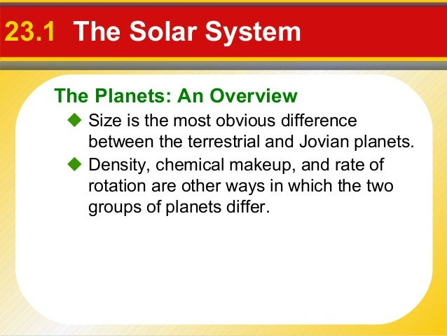 list the differences between terrestrial and jovian planets - photo #7