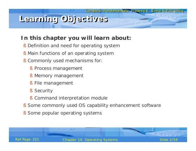 Computer Fundamentals Chapter 14 Os