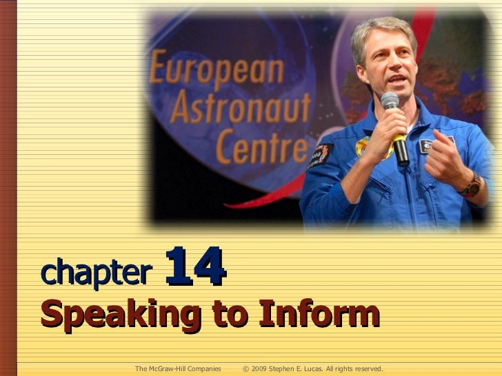 chapter  14  Speaking to Inform