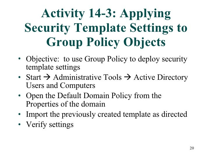 Chapter14 Windows Server 2003 Security Features – It Security Policy Template