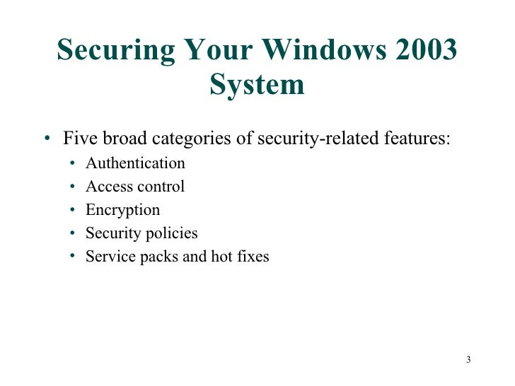 windows workgroup vs windows 2003 security Part of managing a windows server 2003 network environment requires an administrator to be familiar with both of the different security models that can be implemented.