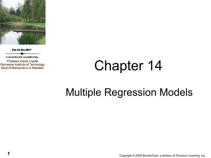 Chapter 14 Multiple Regression Models
