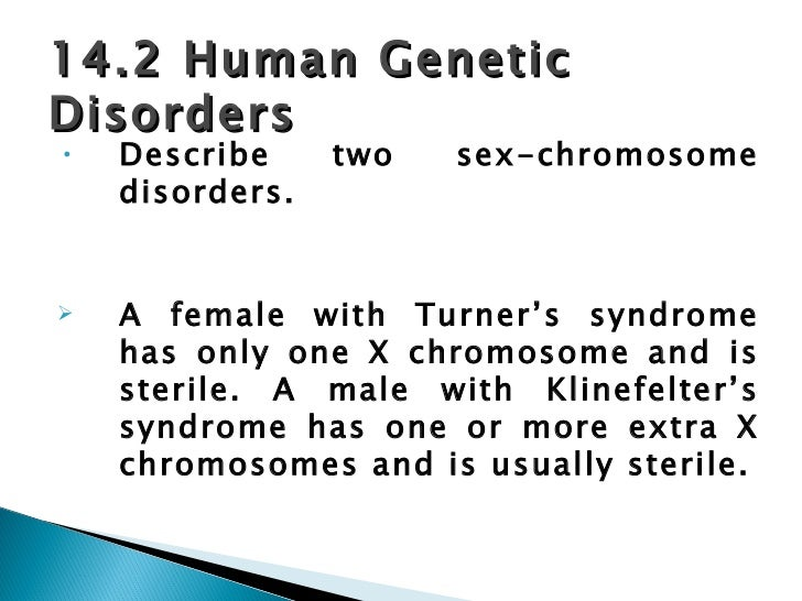 Describe two sex chromosome disorders photo 85