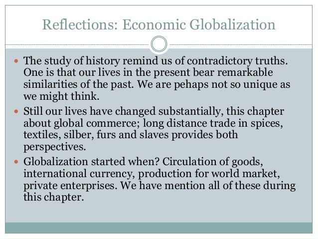 Great 15. Reflections: Economic Globalization ...