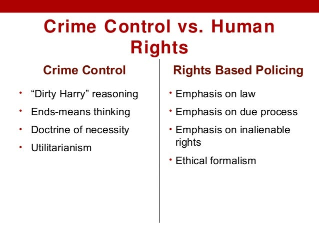 'due process vs crime control model Due process and victims' rights: the new law and politics of criminal justice,  by kent  criminal justice (the crime-control and due process models)5 and an.