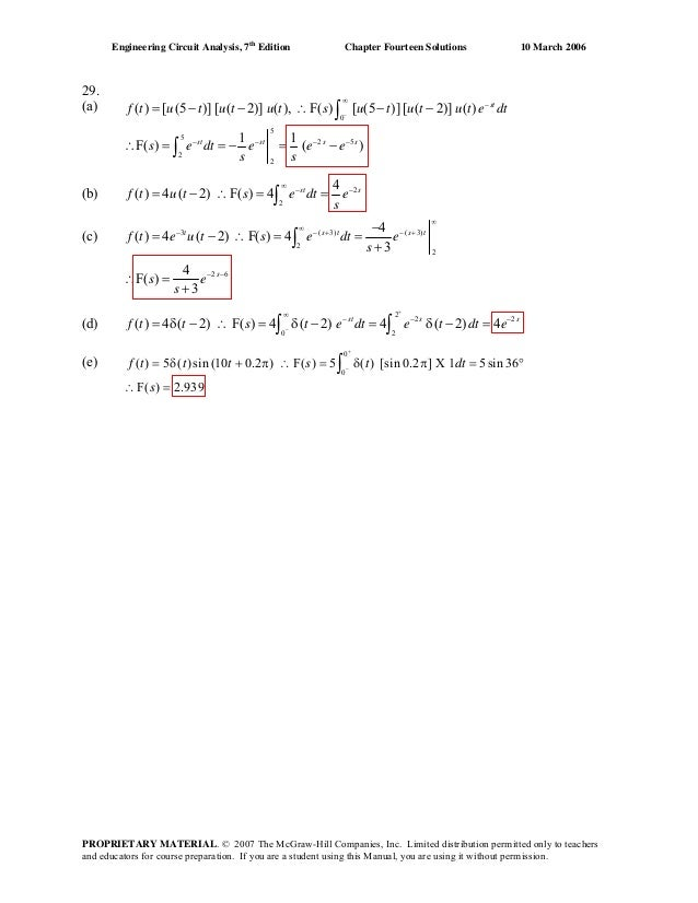 Chapter 14 Solutions To Exercises Engineering Circuit
