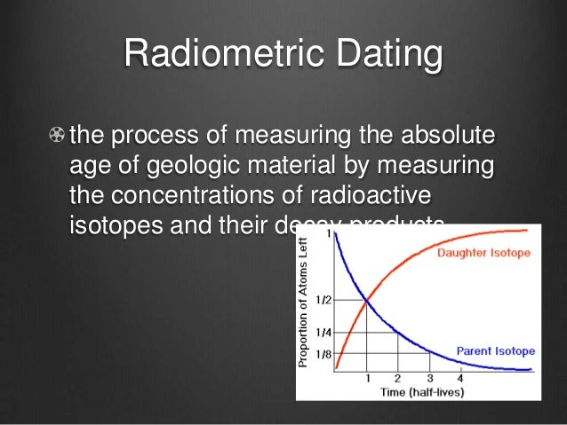 The process of radiometric dating