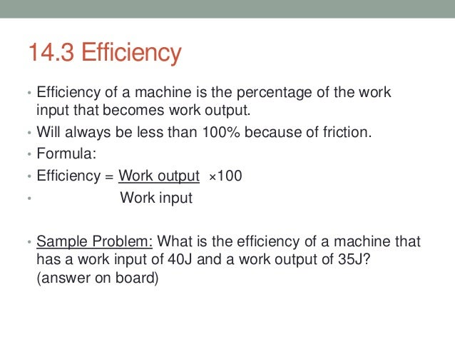 Work Output Formula