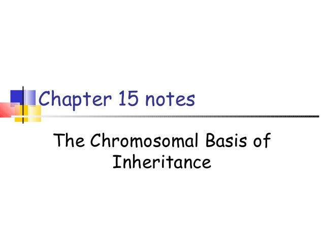 Chapter 15 notes The Chromosomal Basis of Inheritance