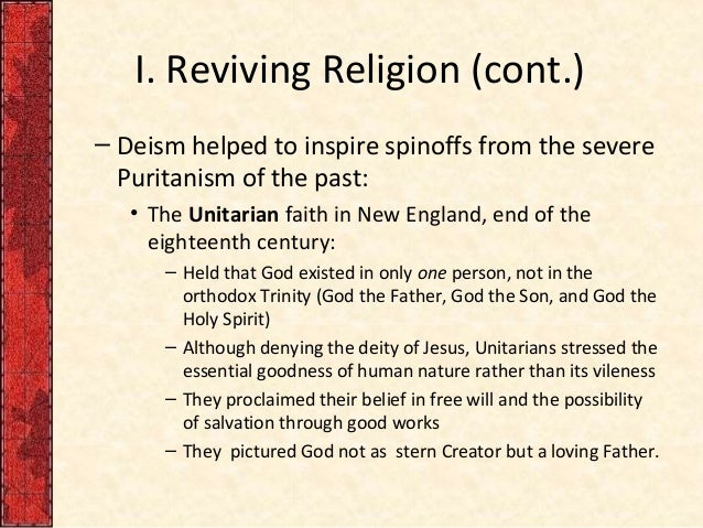the puritan and deist doctrines Reformed and puritan books interest in solid reformed and puritan works continues to grow today because without a doubt, they are the most christ-glorifying works in church history however, many readers find these old works.