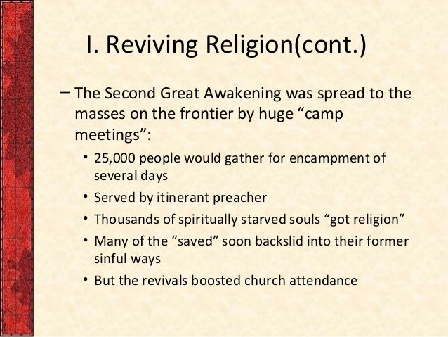 second great awakening essay significance of the first great awakening revivalist preachers features of the second great awakening