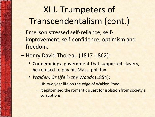 Thoreau, Emerson, and Transcendentalism