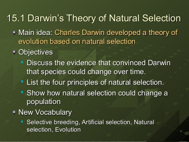 essays on darwins theory of natural selection Check out our top free essays on darwins natural selection theory fear of heights to help you write your own essay.