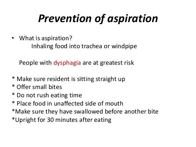 aspiration food nutrition hydration chapter trachea choking prevention
