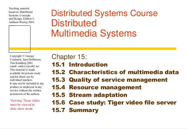 Chapter 15 Distributed Mm Systems