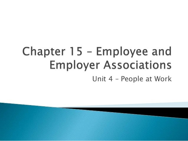 Unit 4 – People at Work