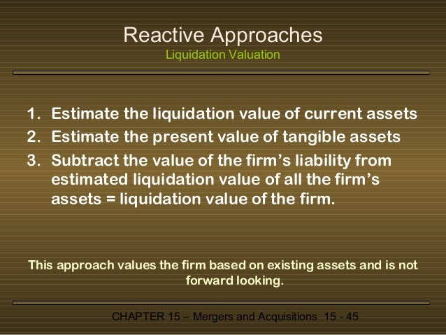 net present value mergers and acquistions Mergers and acquisitions: valuation matters by  (net income + depreciation  are discounted to a present value using the company's weighted average.