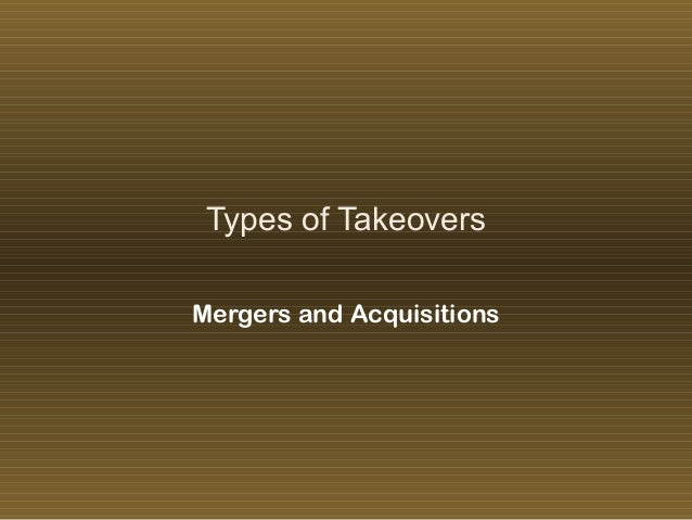 'Mergers and Acquisitions - M&A'