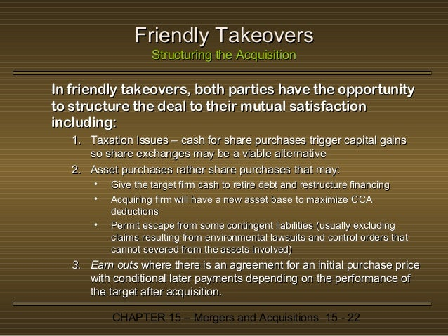 hostile or friendly takeovers mergers economics essay O pros and cons of a hostile versus a friendly merger  the data in table 2 assume a takeover by computech  whether or not computech should attempt to take over cci.