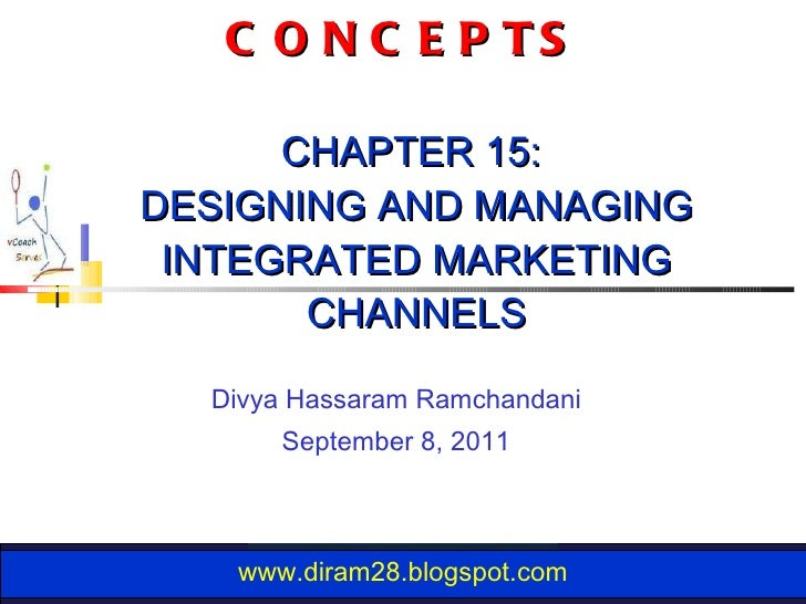 TOP 10 LEARNING CONCEPTS  CHAPTER 15:  DESIGNING AND MANAGING INTEGRATED MARKETING CHANNELS Divya Hassaram Ramchandani Sep...