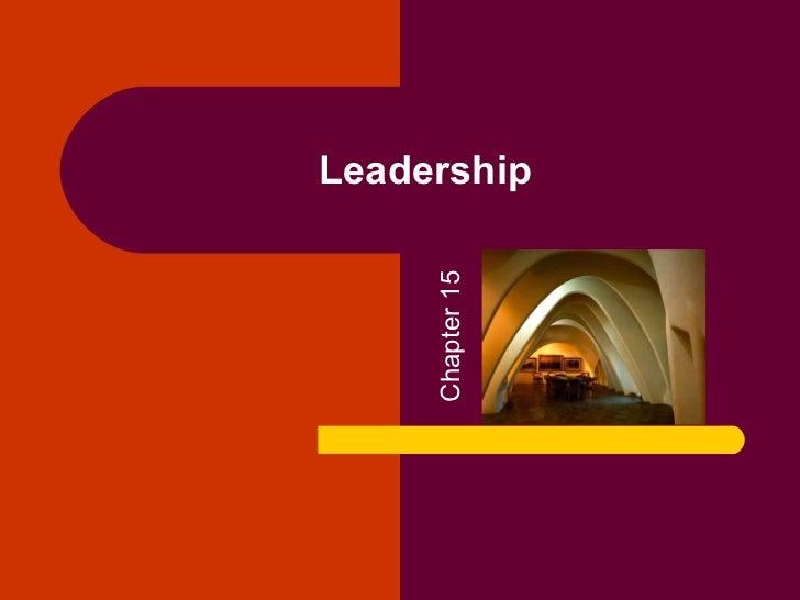 Leadership     Chapter 15