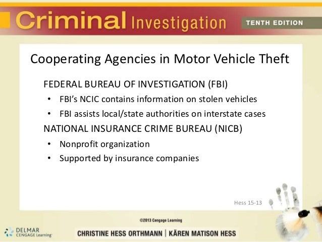 Chapter 15 motor vehicle theft for National motor vehicle title information system