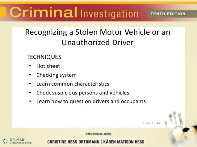Chapter 15 motor vehicle theft for National motor vehicle license organization