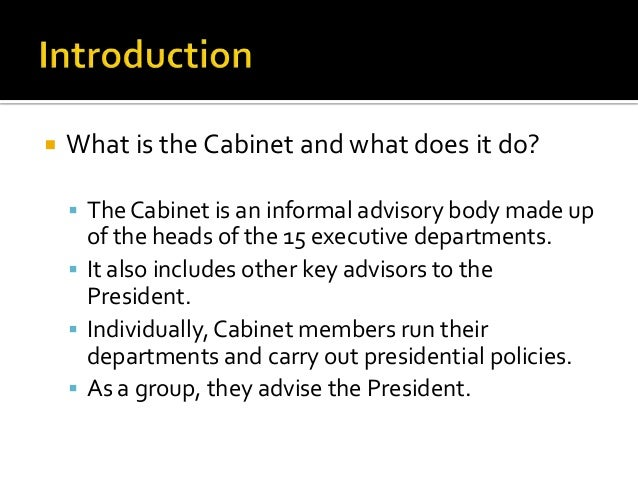 what does the cabinet members do | memsaheb