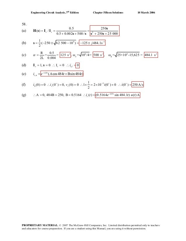 Chapter 15 Solutions To Exercises Engineering Circuit