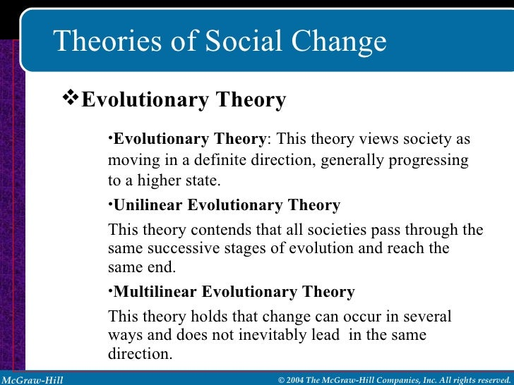 syntehsis of evolutionary theory and social The guides to anthropological theories and  to be developed by many later evolutionists and employed by marx and engels in their theory of social evolution .
