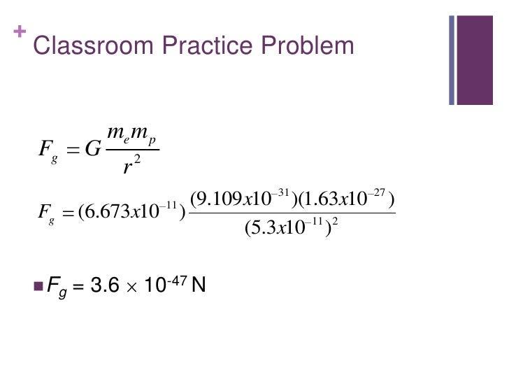 +    Classroom Practice Problem                me m p    Fg      G          2                   r                    11 (9...