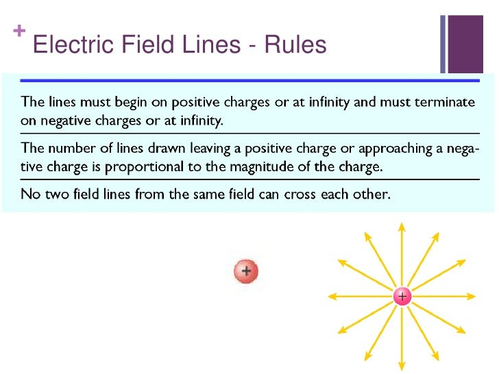 +    Electric Field Lines - Rules     Applythe above rules and sketch the E field around     the charge shown.