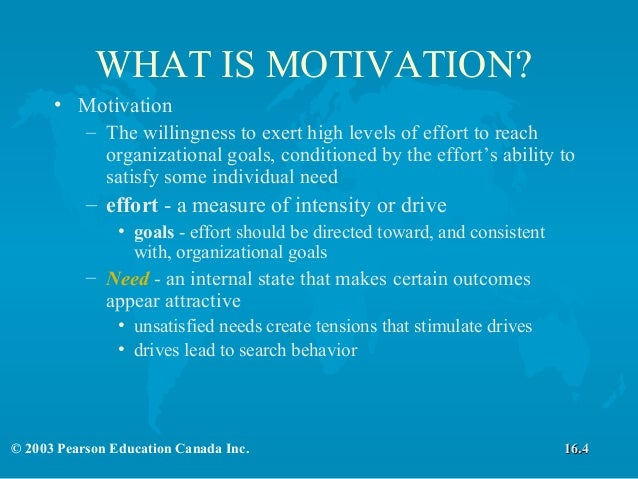 define motivation explain how the expectancy Advertisements: the term 'motivation' has been derived from the word 'motive' motive may be defined as an inner state of our mind that activates and directs our behaviour.