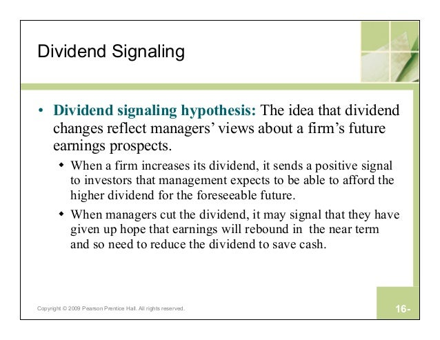 Image result for What is Dividend signalling in Finance