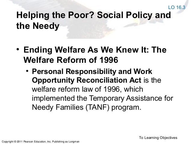an analysis of the failure of welfare reform in 1996 The failure of welfare reform hits new records in 1996, just 28 percent of 1996 is the year president clinton signed welfare reform into law.