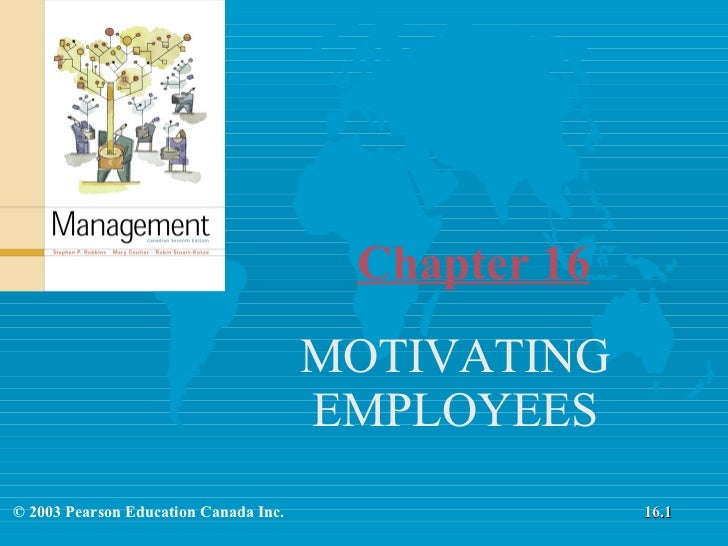 Chapter 16 MOTIVATING EMPLOYEES © 2003 Pearson Education Canada Inc. 16.1