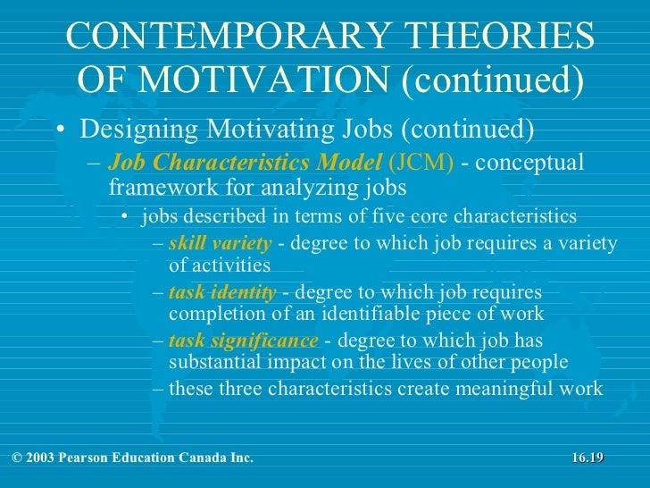 Designing Motivating Jobs Theories Of Motivation