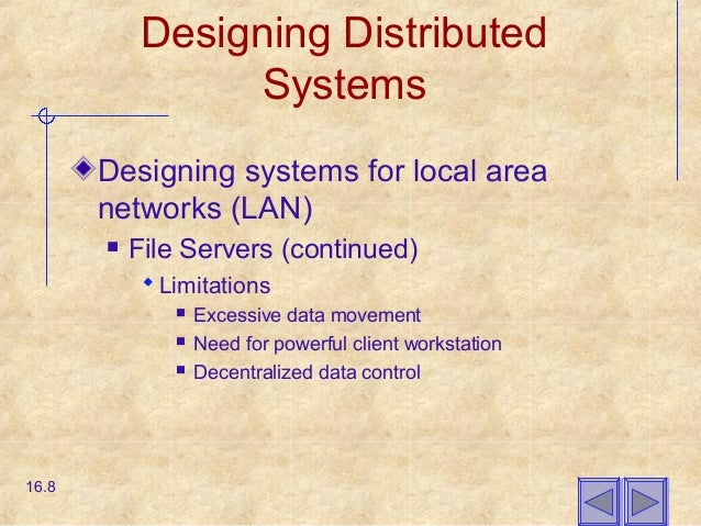 Chapter16 Designing Distributed And Internet Systems