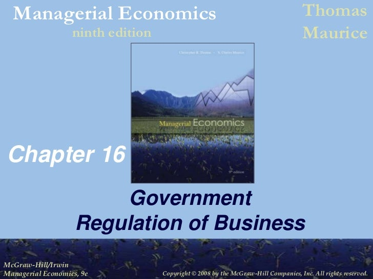 Chapter 16<br />Government Regulation of Business<br />