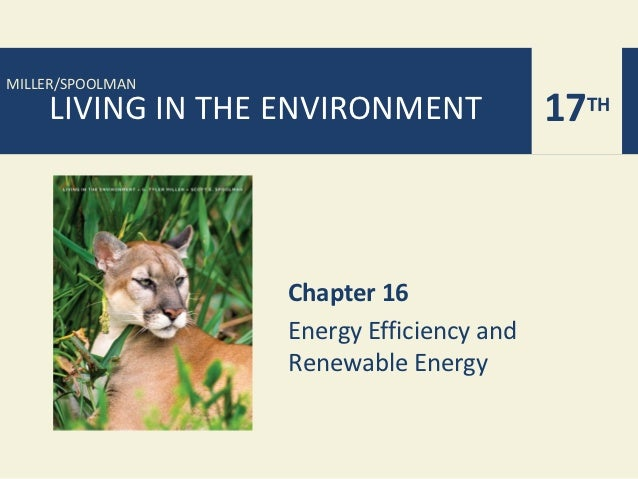 MILLER/SPOOLMAN    LIVING IN THE ENVIRONMENT             17TH                  Chapter 16                  Energy Efficien...