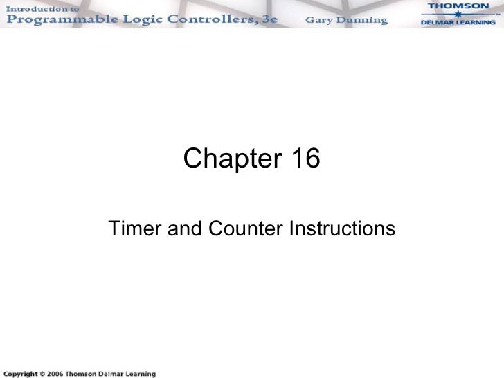 Chapter 16 Timer and Counter Instructions