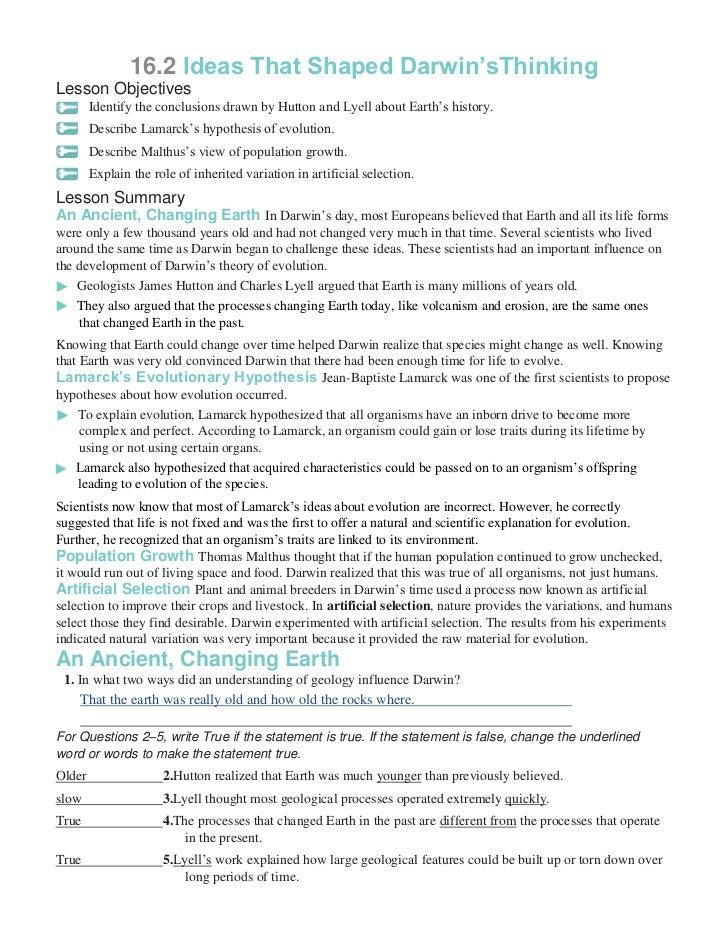 Darwin Natural Selection Worksheet | Classroom | Pinterest ...
