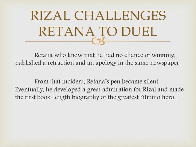 rizals retraction letter 3 when rizal arrived in madrid, he implored help from asociacion hispano-filipina and other liberal spanish newspapers to secure those calamba tenants and his family marcelo h del pilar.