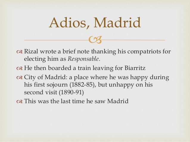rizals life works and writings chapter Misfortunes in madrid (1890-91) chapter 7 misfortunes in madrid (1890-91) chapter 7.