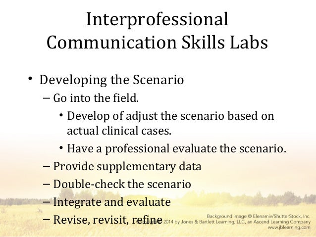 reflection of communication skills relevant to clinical scenario The two areas that you need to work on are preparation and communication its ' important point of care teaching and reflective clinical scenarios in the.